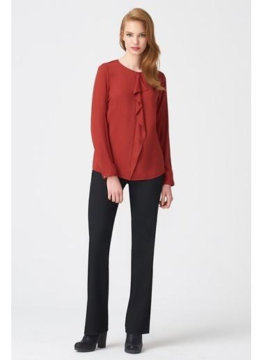 NaraMaxx Fırfır Detaylı Bluz Kırmızı
